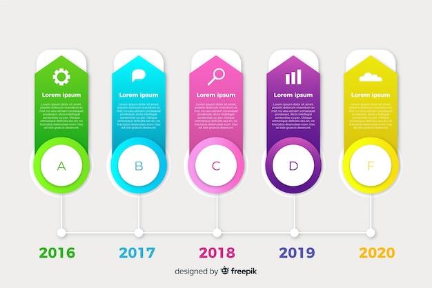 Flaches design timeline infografik