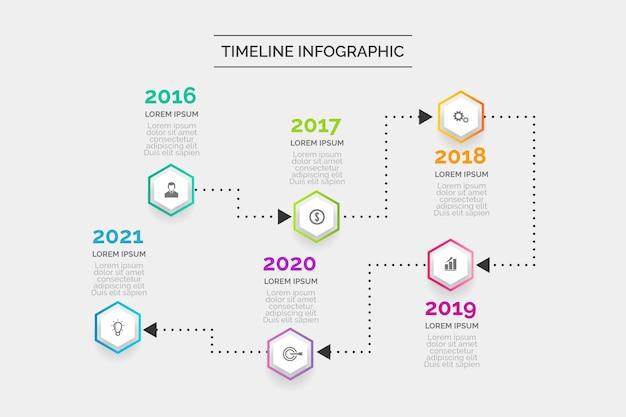 Flaches design timeline infographik