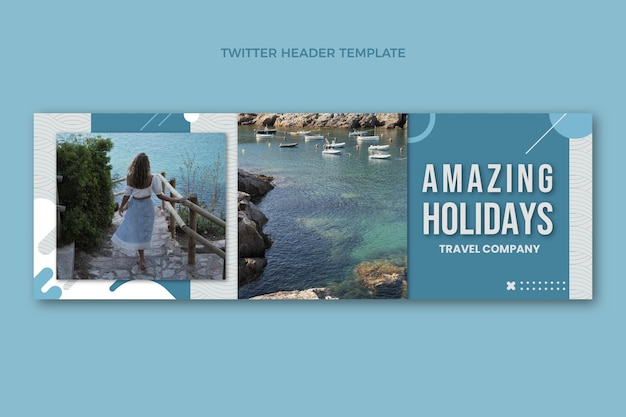 Flaches design tolle feiertage twitter-header