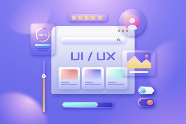 Flaches design-ui und ux-hintergrund