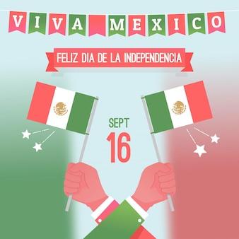 Flaches design unabhängig von mexiko