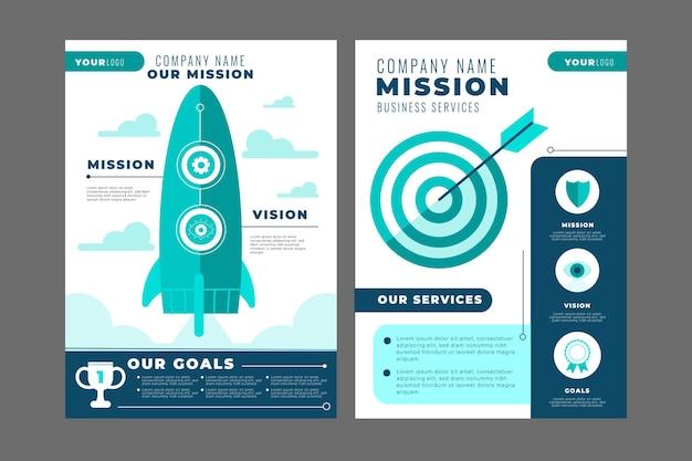 Flaches design unserer missions-flyer-kollektion