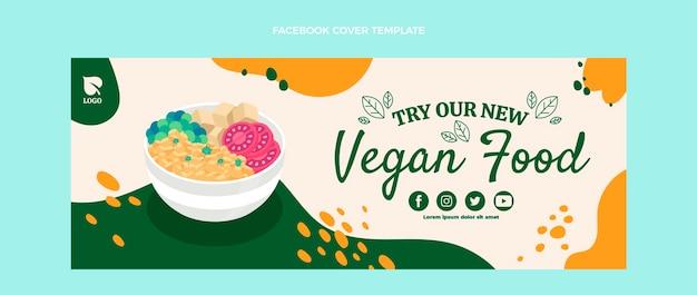 Flaches design veganes essen facebook-cover