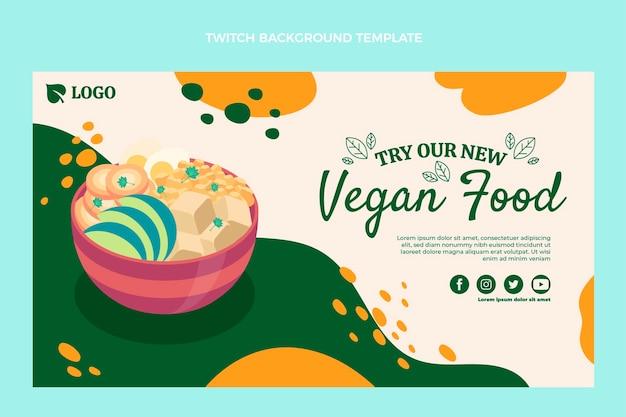 Flaches design veganes essen zuckender hintergrund