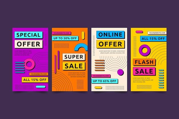 Flaches design verkauf ig stories sammlung