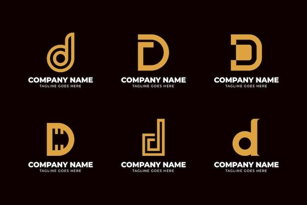 Flaches design verschiedene d logos gesetzt