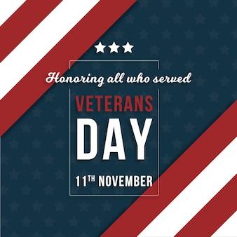 Flaches design veterans day hintergrund