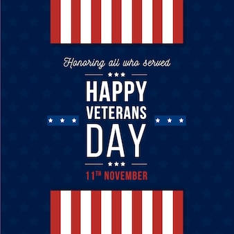Flaches design veterans day wallpaper