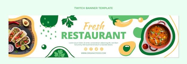 Flaches design von food-twitch-banner