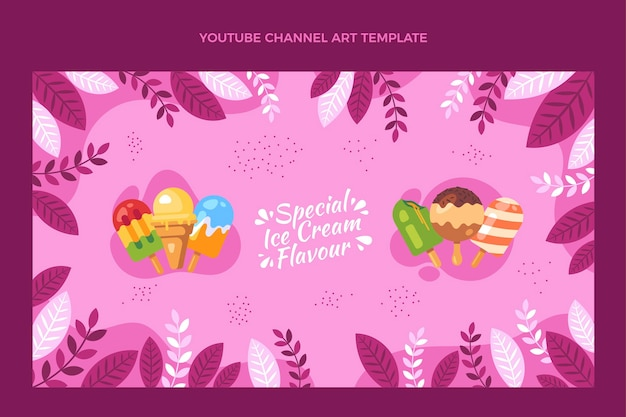 Flaches design von food-youtube-kanalkunst