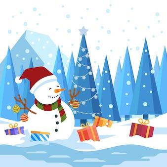 Flaches design weihnachten wallpaper