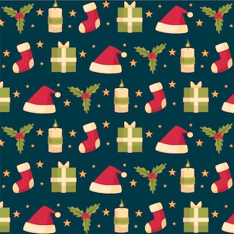Flaches design-weihnachtsmuster