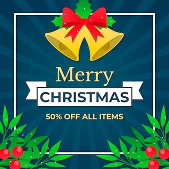 Flaches design weihnachtsverkaufskonzept