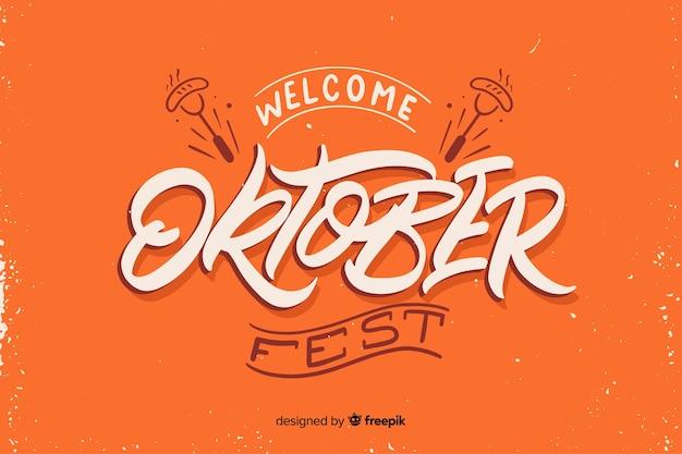 Flaches design willkommen oktoberfest