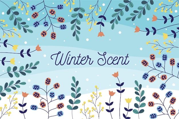 Flaches design winter hintergrund
