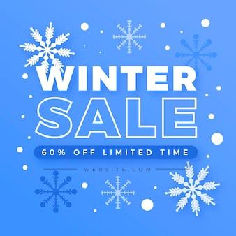 Flaches design winter sale rabatt promo