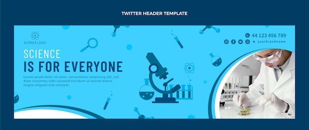 Flaches design wissenschaft twitter-header