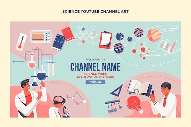 Flaches design wissenschaft youtube-cover