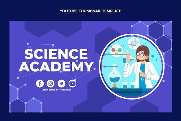 Flaches design wissenschaft youtube-miniaturansicht