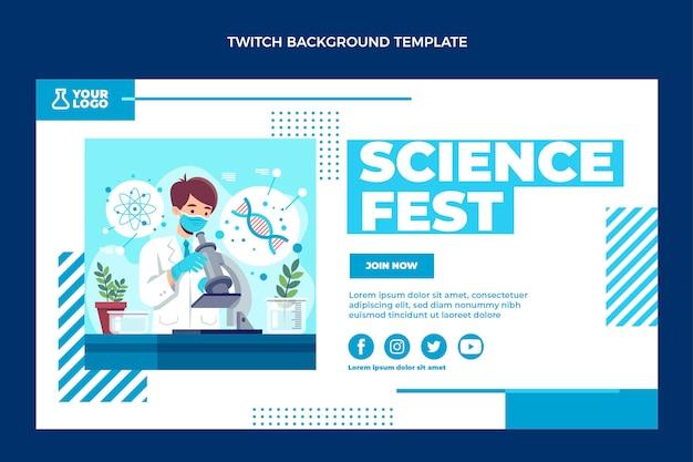 Flaches design wissenschaft zuckender hintergrund
