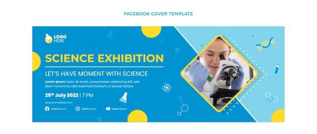 Flaches design-wissenschafts-facebook-cover