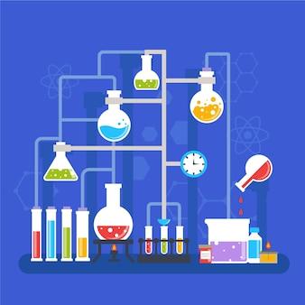 Flaches design-wissenschaftslabor