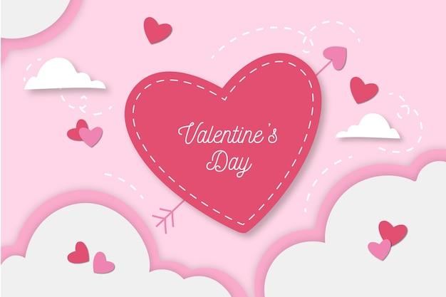 Flaches design zum valentinstaghintergrund