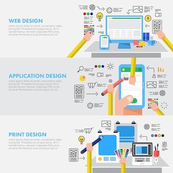 Flaches designkonzept des digitalmarketings
