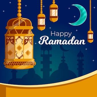 Flaches designkonzept für ramadan