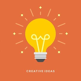 Flaches designvektorgeschäfts-illustrationskonzept kreative idee