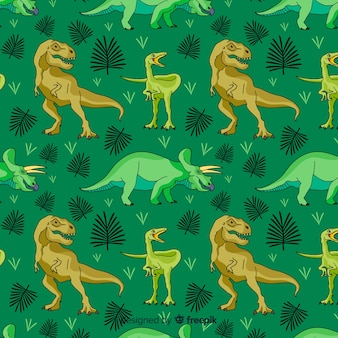 Flaches dinosauriermuster