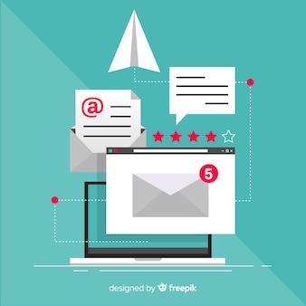 Flaches e-mail-marketing