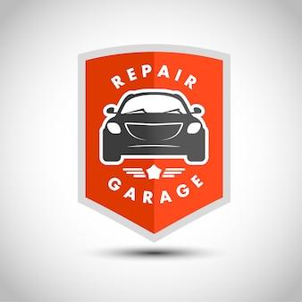 Flaches einfaches minimalistisches auto-logo. auto-symbol isoliert auf weißem hintergrund. reparaturservice-logo, garagenlogo, auto-tuning-studio-insignien. auto design. auto illustration.