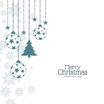 Flaches elegantes design für frohe weihnachten hintergrund