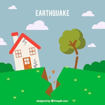 Flaches erdbeben design