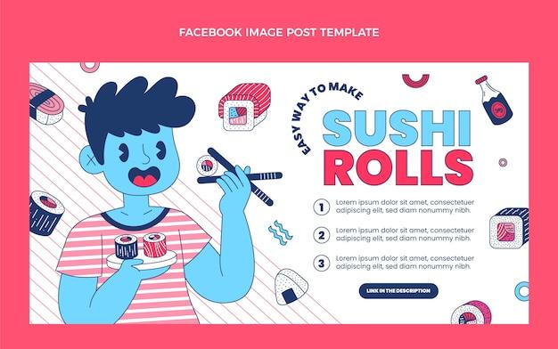Flaches essen facebook-post