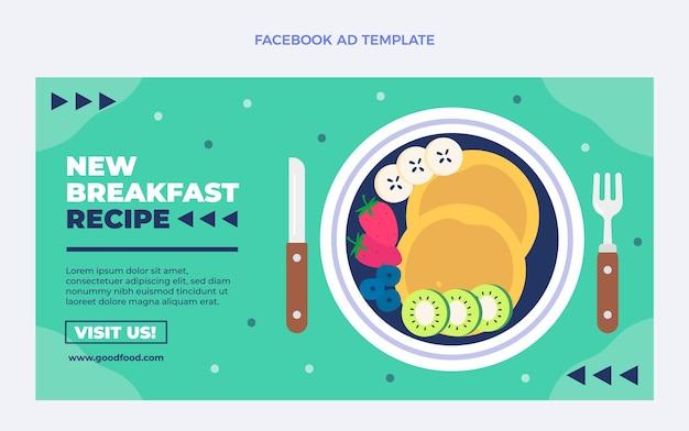 Flaches essen facebook-vorlage food