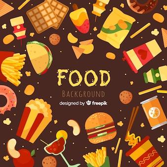 Flaches Essen Hintergrund