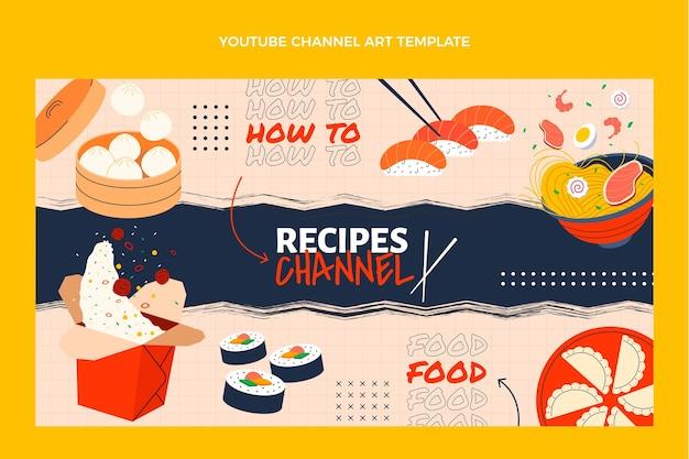 Flaches essen youtube-kanalkunst