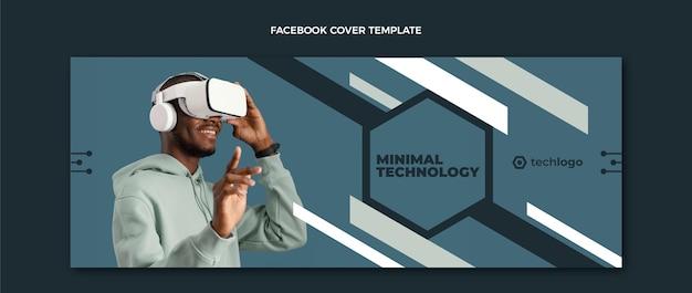 Flaches facebook-cover mit minimaler technologie