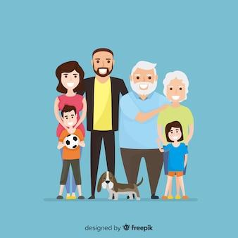 Flaches familienportrait