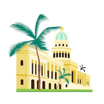 Flaches farbobjekt des kubanischen kapitolgebäudes