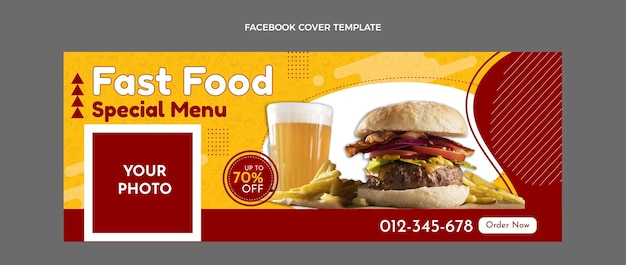 Flaches fast-food-facebook-cover