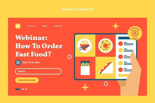 Flaches fast-food-webinar