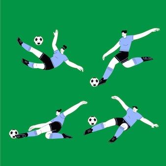Flaches fußballspieler-illustrationsdesign