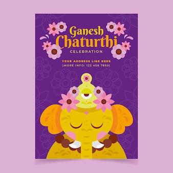 Flaches ganesh chaturthi poster