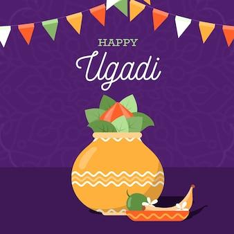 Flaches glückliches ugadi festival