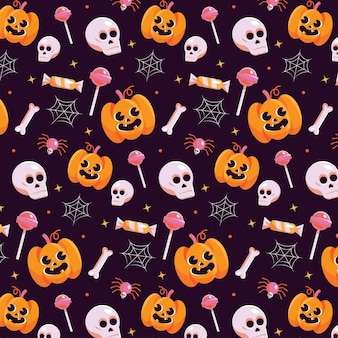 Flaches halloween-musterdesign