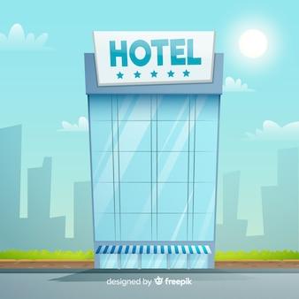 Flaches hotelgebäude