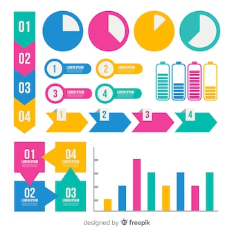 Flaches infographik element
